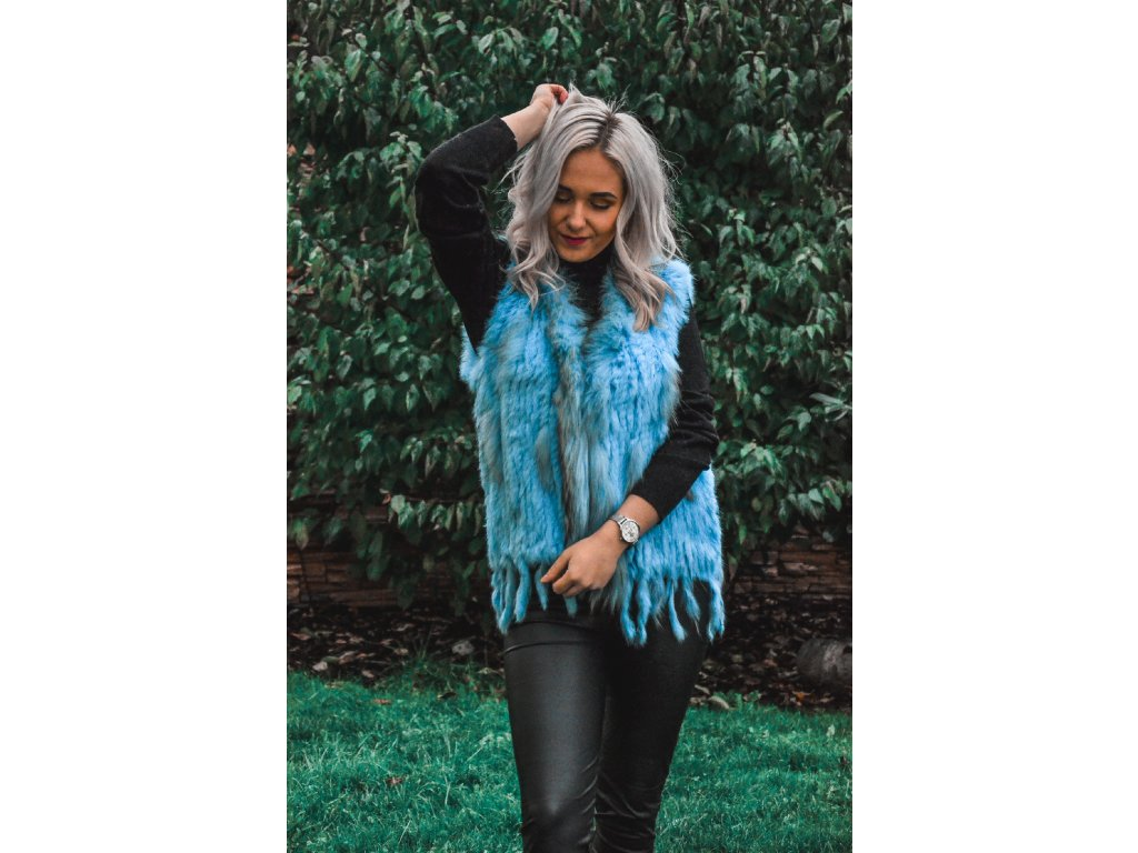 Kožešinová vesta - Snow Eagle (Barva Béžová, Velikost L-XL)