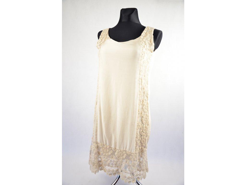 Smetanové šaty - Snow Eagle