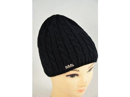 Čepice zimní (Barva Tmavě šedá, Velikost UNI, materiál Plét)