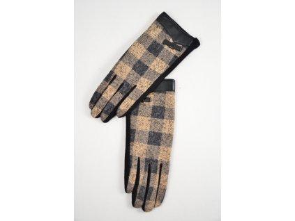 Módní kostičkované rukavičky   SNOW EAGLE