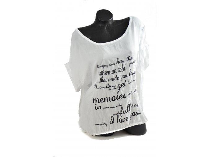 Bílé triko s potiskem