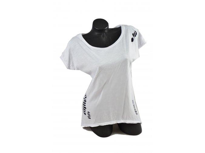 Letní triko s módními prostřihy