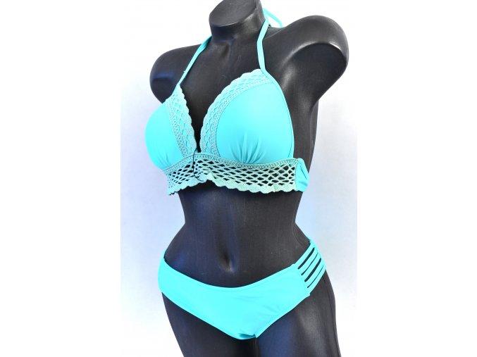 Luxusní plavky s háčkovanou krajkou