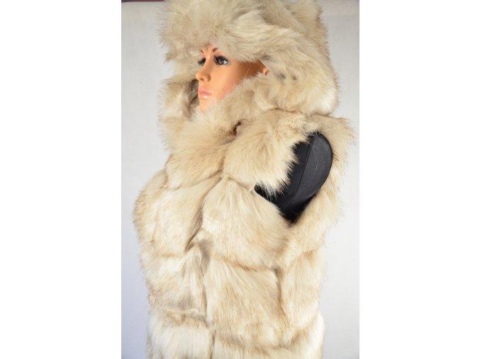 Luxusní vesta s kapucí (Barva Béžová, Velikost M)