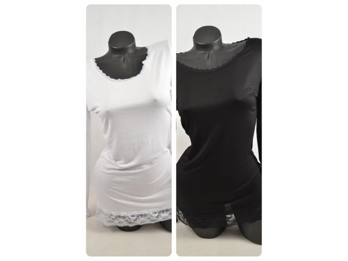 Elastické tričko s krajkou