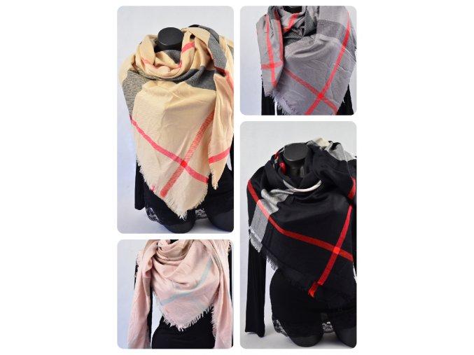 Luxusní šátek barevné variace