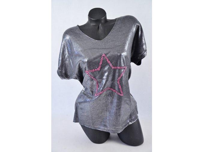 Módní Top, triko s hvězdou