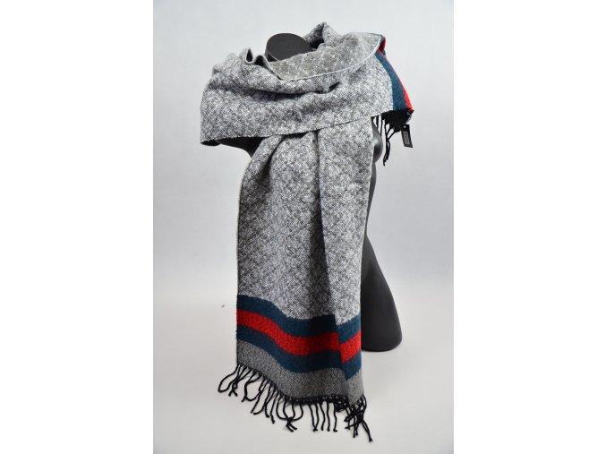 Luxusní šál - šátek (Barva Tmavě šedá, Velikost UNI)