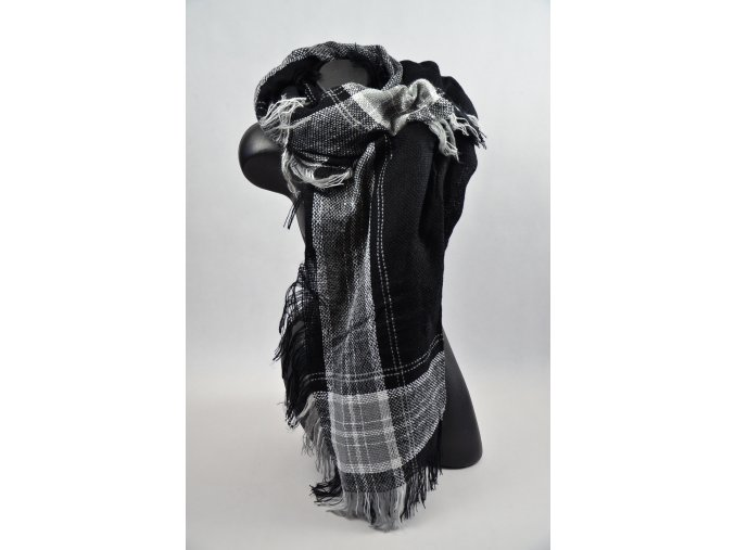 Luxusní Maxi Pléd - šátek (Barva Růžová, Velikost 140x140cm, materiál Bavlna)