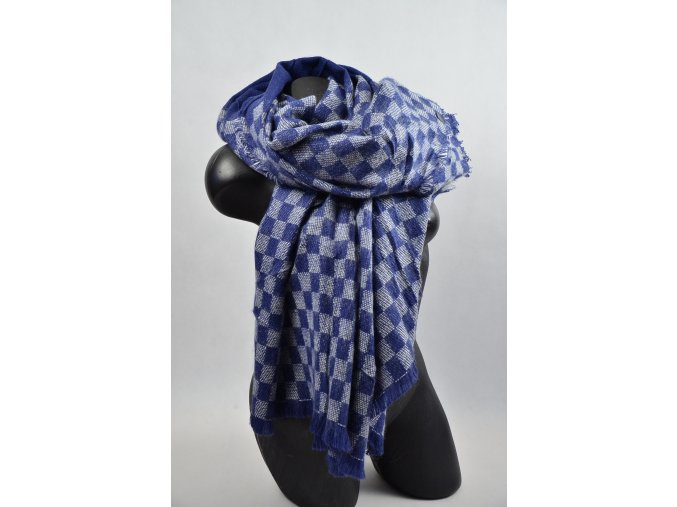 Luxusní Maxi Pléd - šátek (Barva tmavěmodrá, Velikost 140x140cm, materiál Bavlna s chloupkem)