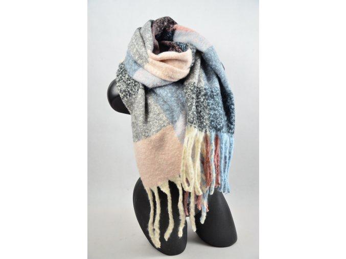 Zimní teplý pléd (Barva Hnědo-krémový, Velikost 200x97cm, materiál Bavlna s chloupkem)