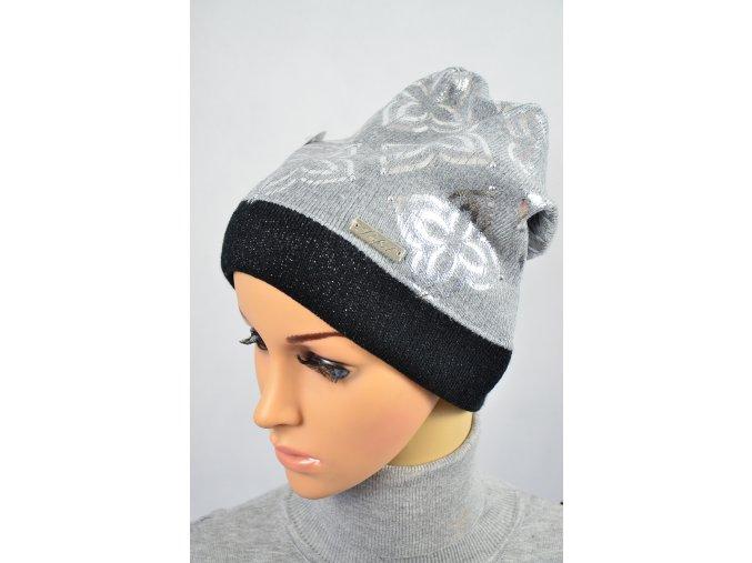 Módní čepice (Barva Stříbrná)