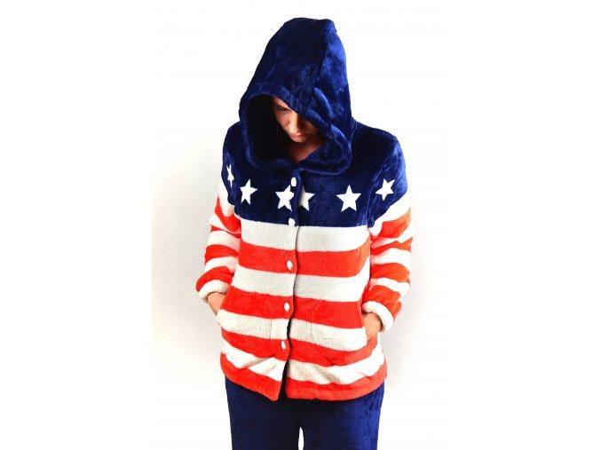 Teploučký domácí obleček | SNOW EAGLE- červená / modrá v kombinaci s bílou