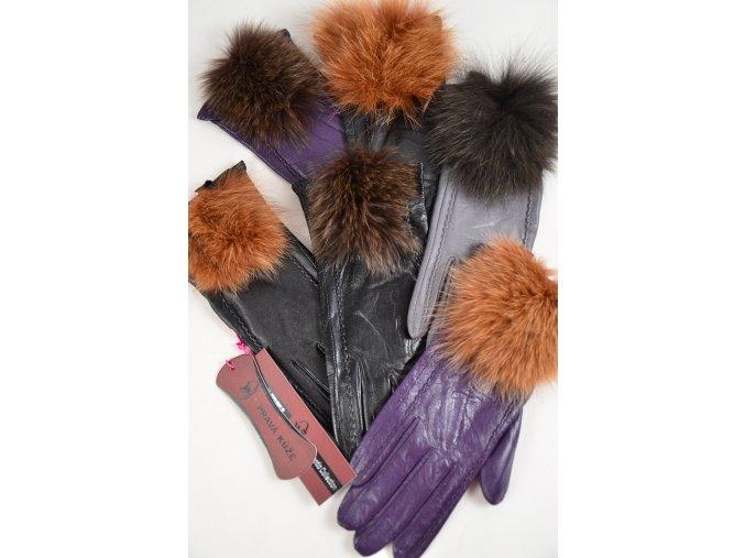 Kožené rukavice s kožešinkou | SNOW EAGLE