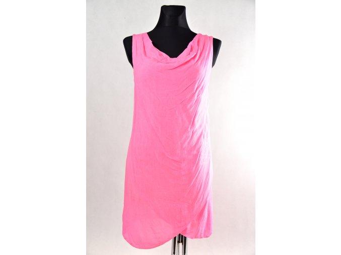 Letní šaty, černá, růžová
