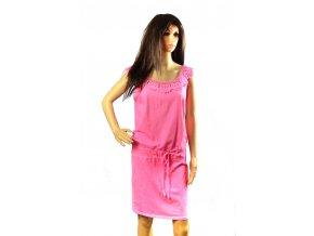 Letní šaty, černá, růžová I - S. Eagle (Barva Růžová, Velikost UNI)