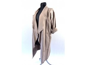 Teplákový módní kardigan (Barva Šedá, Velikost UNI)