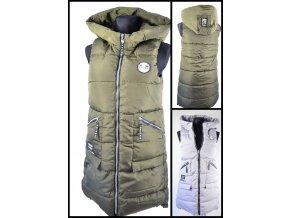obrázekPéřová vesta s kapucí
