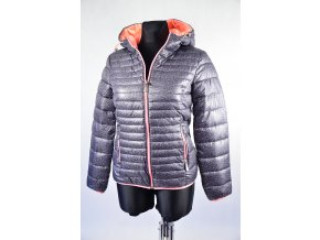 Zimní bunda do pasu s kapucí