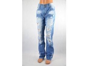 Jeans svět.modré, drbané