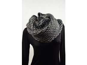 Maxi pletený Snood - šedá