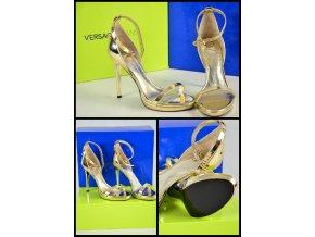 VERSACE JEANS - gold sandals
