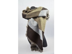 Luxusní Maxi Pléd - šátek (Barva Vínová, Velikost 200x97cm, materiál Bavlna s chloupkem)