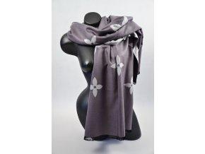 Velký šál (Barva Modrá, Velikost 200x97cm, materiál Bavlna)