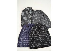 Čepice (Barva černošedá-lebky, Velikost UNI, materiál Plét)