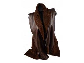 Luxusní vesta ala beránek - Snow Eagle (Barva Hnědá, Velikost UNI)
