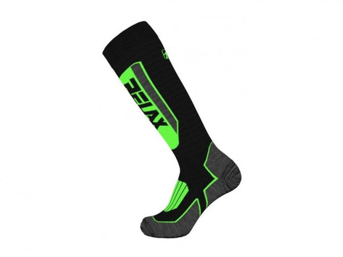 ponožky Relax Extreme černo-zelené (ponožky velikost 47-48)