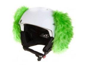 uši na helmu Pes zelený