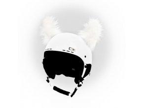 uši na helmu Yetti bílý