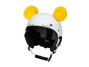 uši na helmu Medvídek žlutý
