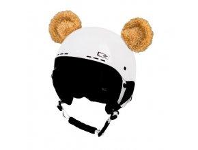 uši na helmu Medvídek hnědý