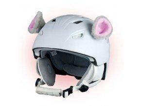 uši na helmu Myška
