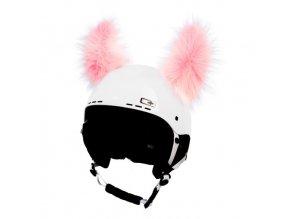 uši na helmu Yetti růžový