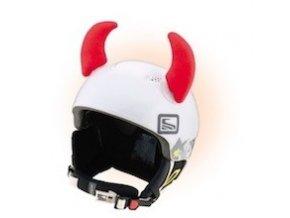 rohy na helmu malé červené