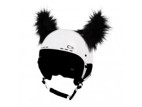 uši na helmu černé chlupaté