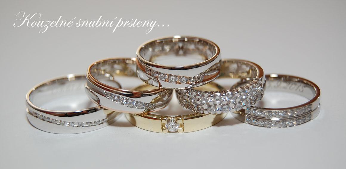 kouzelné snubní prsteny