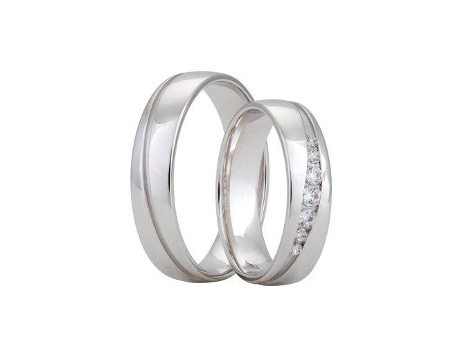Snubní prsteny LR-352 palladium