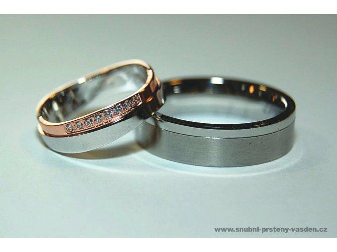 Snubní prsteny LR-404+ST-127