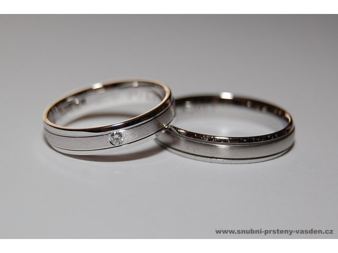 Snubní prsteny LR-033+ST-020