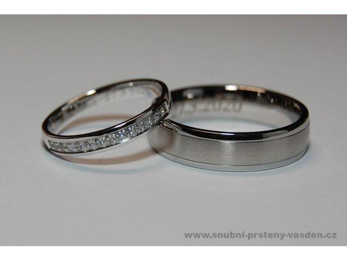 Snubní prsteny LR-126+ST-0040