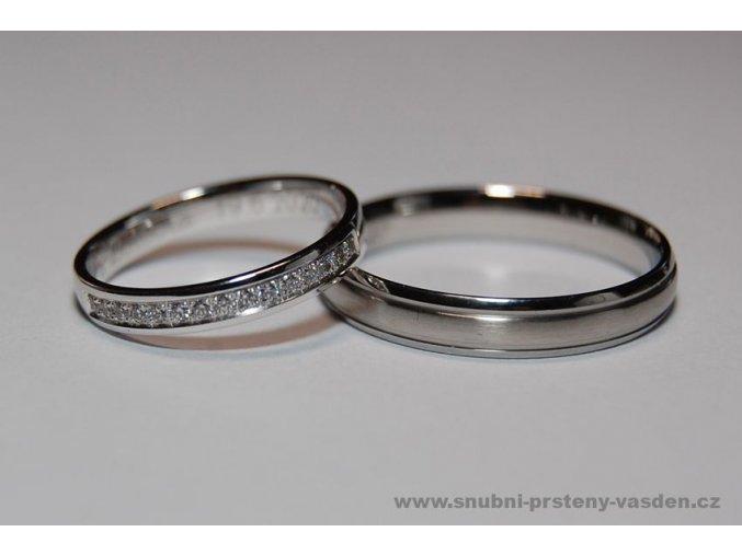 Snubní prsteny LR-126+ST-020