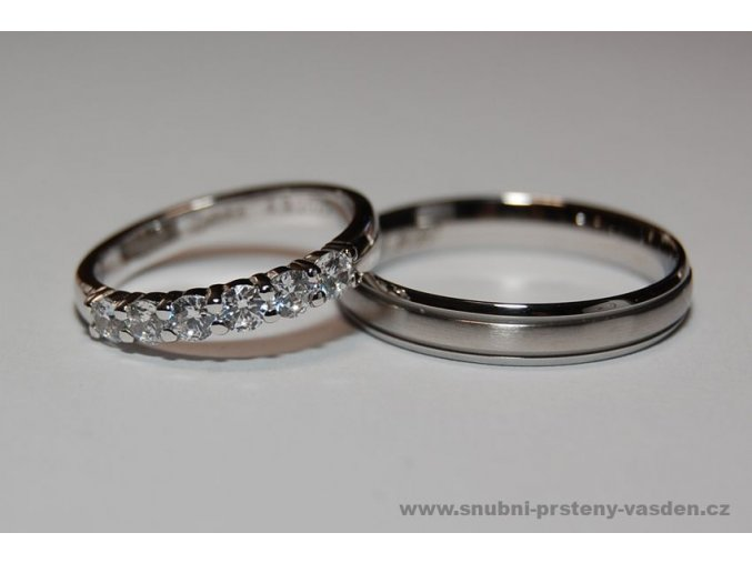 Snubní prsteny LR-332+ST-020