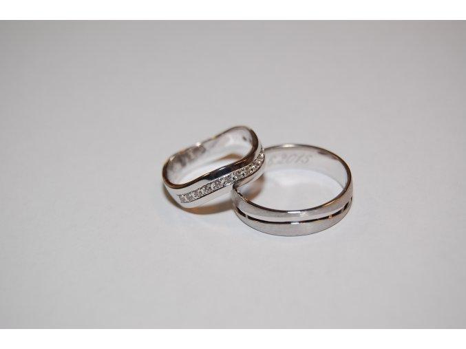 Snubní prsteny RE-31F+ST0150