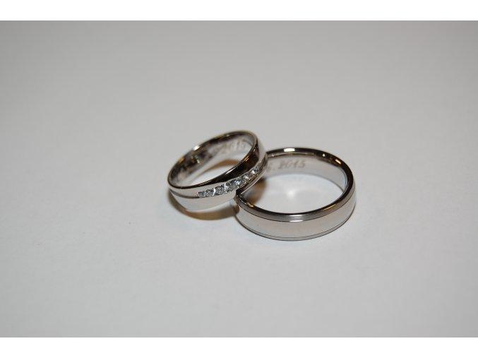 Snubní prsteny LR-352+TI040