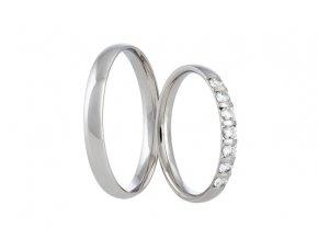 Snubní prsteny LR-373-Palladium