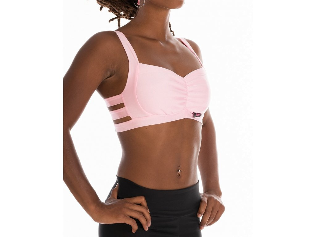 Sportovní top Baby Pink Stripes